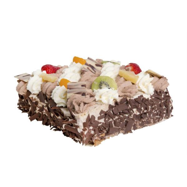 Slagroom-chocoladetaart